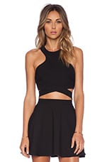 x Naven Twins Chromat Crossover Top en Noir