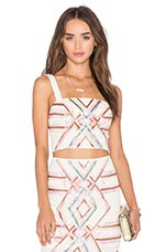 NBD x Naven Twins Hot Tropics Crop Top in White Embellished
