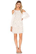 Embellished Bib Dress en Rose Beige