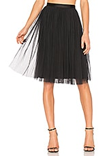 Needle & Thread Tulle Midi Skirt in Washed Black