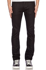 Sharp Iggy Skinny Jeans in Black Raw