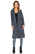 NEUW Dusk Trench Coat in Steel