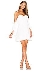 n / nicholas Flounce Mini Dress in White