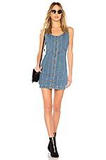 n / nicholas Denim Button Front Mini Dress in Washed Blue