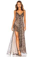 NICHOLAS Tie Front Maxi Dress in Leopard