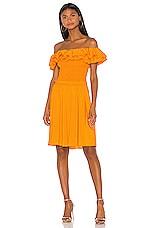 NICHOLAS Ruffle Bustier Dress in Orange
