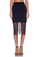 Lace Trim Skirt in Black