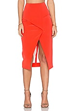Technical Bonded Fold Back Skirt in Tangerine