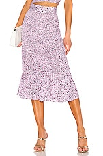 NICHOLAS X REVOLVE Smocked Midi Skirt in Pink Poppy Multi