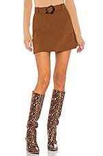 NICHOLAS Mini Skirt in Walnut