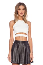 Crop Top with Band en Blanc