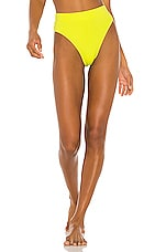NICHOLAS High Waisted Bikini Bottom in Fluorescent Lime