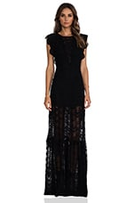 Caletto Maxi Dress en Noir