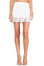 Daisy Crochet Flare Short in White
