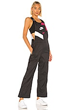 Nike Overalls in Black, Noble Red & White