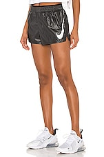Nike NK Swoosh Run Short in Black & White