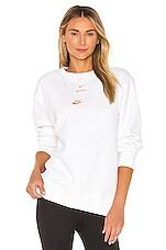 Nike NSW Glam Dunk Crewneck in White