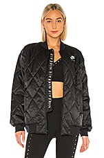 Nike NSW Air Synthetic Fill Satin Jacket in Black & Pumice