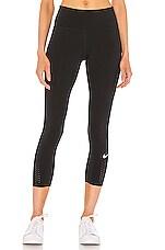 Nike NK Epic Lux Crop Legging in Black & Reflective Silver