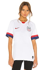 Nike USA Home Jersey in White, Blue Void & University Red