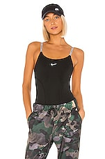 Nike NP Capsule Bodysuit in Black & Metallic Silver