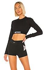 Nike Rib Crop Top in Black