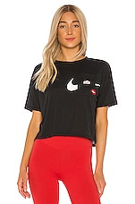 Nike NK Icon Clash Wow Tee in Black & White