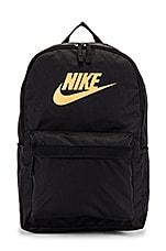 Nike Nk Heritage Backpack 2.0 in Black & Metallic Gold