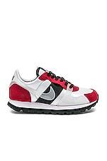 Nike Women's V-Love O.X. Sneaker in White, Red & Black