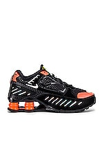 Nike Shox Enigma SP Sneaker in Black & Hyper Crimson
