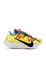 Nike X OFF-WHITE WS Vapor Street Sneaker in Tour Yellow, Black & Light Bone