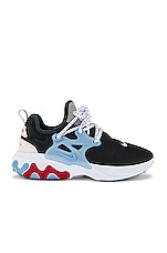 Nike React Presto Sneaker in Off Noir, Light Soft Pink, Light Blue & Gym Red