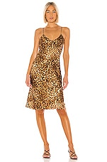 NILI LOTAN Short Cami Dress in Ginger Leopard Print