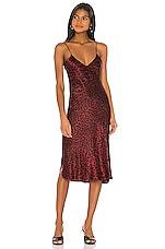 NILI LOTAN Short Cami Dress in Ruby Leopard Print