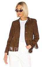 NILI LOTAN Frida Jacket in Dark Cognac