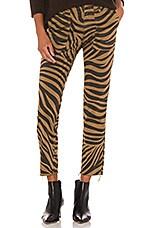 NILI LOTAN Jenna Pant in Coyote Tiger Print