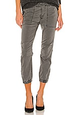 NILI LOTAN Cropped Military Pant in Charcoal