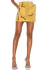 NILI LOTAN Ilona Skirt in Golden Camouflage