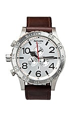 The 51-30 Chrono Leather in Silver Brown