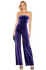 Norma Kamali X REVOLVE Velvet Strapless Jumpsuit in Purple