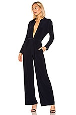 Norma Kamali x REVOLVE Shirt Straight Leg Jumpsuit in Midnight