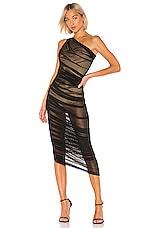 Norma Kamali Diana Gown in Black Mesh