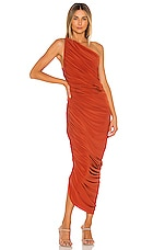 Norma Kamali Diana Gown in Cinnamon