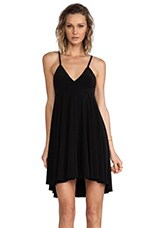High Low Slip Flare Dress in Black