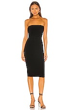 Norma Kamali Strapless Dress in Black