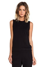 Sleeveless Sweatshirt in Black