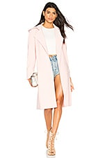 Norma Kamali Double Breasted Trench in Blush