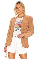 Norma Kamali Single Breasted Blazer in Sun Tan