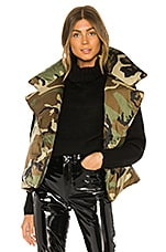 Norma Kamali Sleeping Bag Sleeveless Vest in Camo