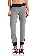 Side Stripe Jogging Pants in Dark Grey & Black